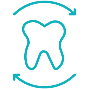 Stilisierte Darstellung eines Zahnersatzes